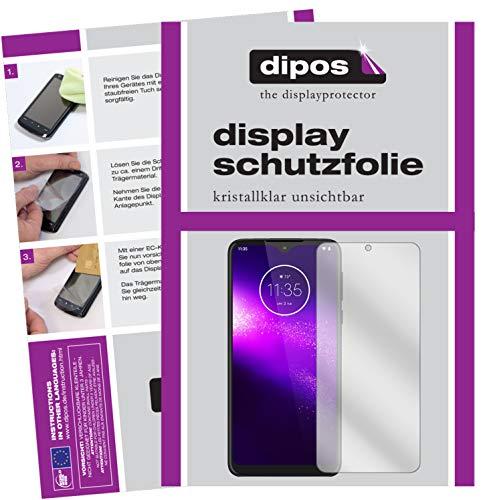 dipos I 2X Schutzfolie klar kompatibel mit Motorola One Macro Folie Bildschirmschutzfolie (bewusst Kleiner als das Glas, da Dieses gewölbt ist)