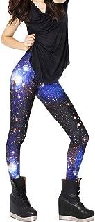 AONER Damen Galaxy Leggings Skinny Elastische Leggins Einheitsgröße Frau Galaxie Space Patterned Weltraum Weltall Sternenhimmel Print Style Stretch