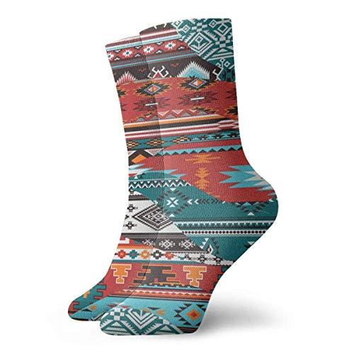 hgfyef Patchwork-Socken Indianer Wellen Damen Herren Socken Fußball Socken Sport Tube Strümpfe Länge 30 cm