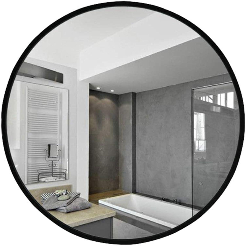 Mirror Round Wall Mirror Bathroom Mirror Makeup Mirror Simple European high-Definition Anti-Corrosion 70cm