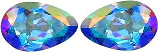 1.92 ct (2pcs) MATCHING PAIR Pear Shape (8 x 5 mm) Mercury Mystic Topaz Natural Gemstone
