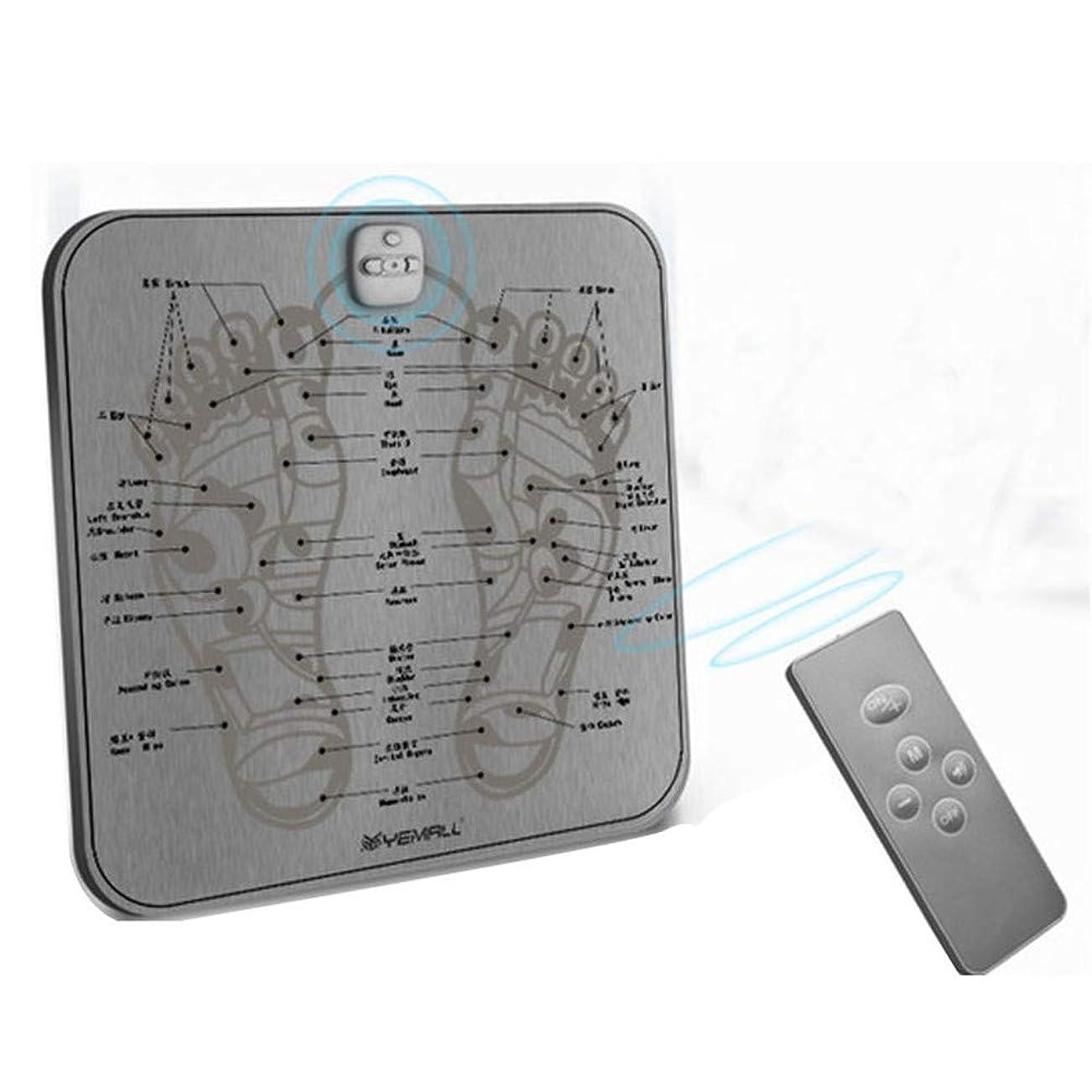 ワイヤー常習者整理するEMSフットマッサージャー、USB充電式折りたたみ携帯用電気マッサージマットエレクトリックフットマッサージャー電子筋肉刺激調節可能な6モード