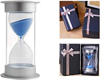 EVELS Hourglass Sand Timer GiftBox5/10/15/20/30/40/45/60 Minutes Sand glass Timer Mantel Office Desk Book Shelf Curio Cabinet Christmas Birthday Gift Kids Games Classroom Kitchen Home(30 Min, Blue)