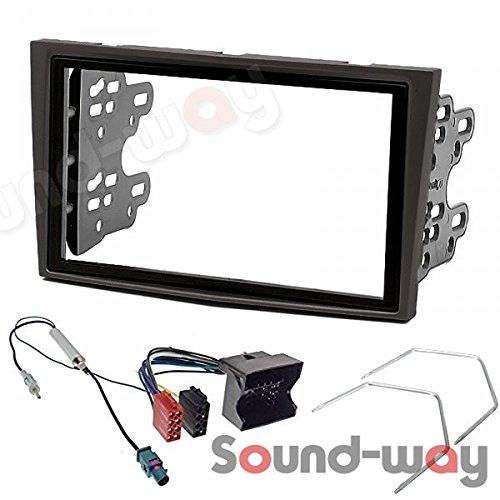 Sound-way 2 DIN Radiopaneel Frame Autoradio, Antenne Adapter, ISO Aansluitkabel, Demontage Sleutels, ondersteuning voor Opel Astra H, Corsa D, Zafira B