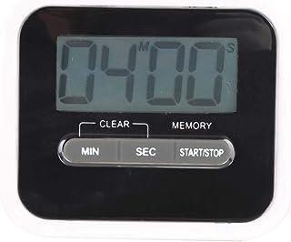 Påminnelser Hem Kök Matlagning Salong Tattoo Timer (svart) Bärbar Elektrisk Väckarklocka