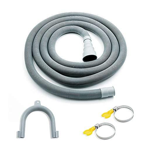 Kit de extensión de manguera de drenaje para lavadora de 3 m, manguera de drenaje universal para lavadora y lavavajillas flexible