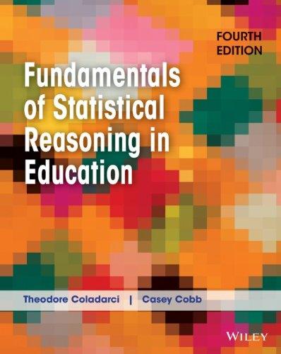Fundamentals of Statistical Reasoning in Education