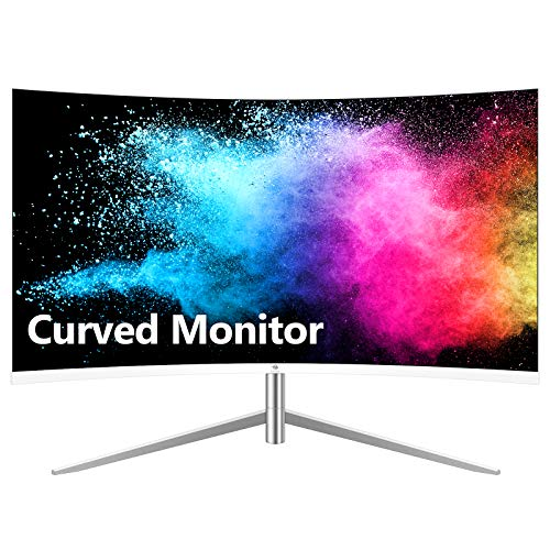 Z-Edge U24C 24-inch Curved Gaming Monitor, Full HD 1080P 1920x1080 LED Backlight Monitor, with 75Hz Refresh Rate and Eye-Care Technology, 178° Wide View Angle, Built-in Speakers, VGA+HDMI