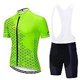 Ciclismo set - Jersey conjunto ciclismo masculino, Bicicleta Juego Corto manga con 9D gel acolchado pantalones cortos, ropa de ciclo Set for la bici del camino de MTB ( Color : #03 , Size : XXXL )