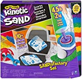 Kinetic Sand, Sandisfactory Set, 4.5lbs of Colored and Rare White, 10 Tools and Molds, Play Sand for Kids Ages 3 and Up, Amazon Exclusive