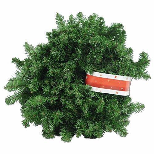 XXL Tannengirlande aus Kunststoff / elastische Tannenzweiggirlande 540 cm / Adventsdekoration für innen und außen / Weihnachtsgirlande zum Dekorieren und Schmücken