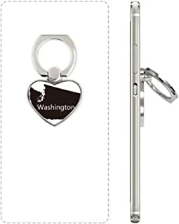 cold master DIY Washington The United States Map Heart Cell Phone Ring Stand Holder Bracket Universal Support Gift MultiColor