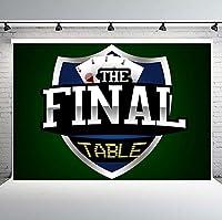 PHMOJEN カジノテーマパーティー写真背景ポーカーダイスチップ 777 背景ビニールフォトスタジオ小道具