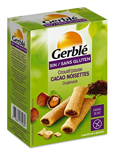 Gerblé Crousti'Pause Cacao, Sans gluten, 10 biscuits, 125 g, 194119