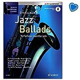 Dirko Juchem Jazz Ballads 16 morceaux de Jazz célèbres avec CD et piano - Série Schott Saxophone Lounge Saxophone alto avec pince à partitions en forme de cœur