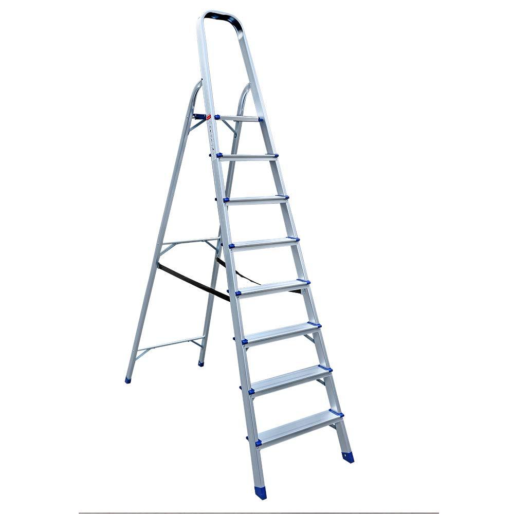 Escaleras dobles, escalera doméstica, escalera de aluminio, escalera de 3 capas, escalera de 4 lados: Amazon.es: Bricolaje y herramientas