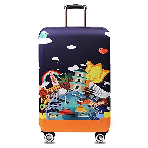 Travel Kin - Funda para Maleta de Viaje (Elastano, 18/24/28/32 Pulgadas, Alta Elasticidad), Verde (Verde) - XT-300