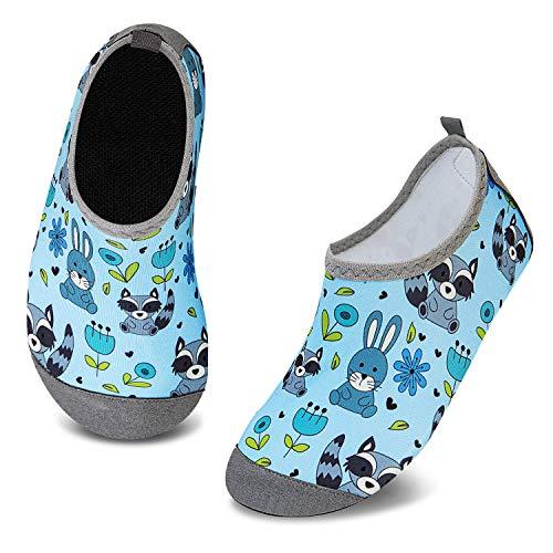 HMIYA Zapatos De Natación Niño Niña Antideslizante Zapatos de Agua Secado RáPido Respirable Escarpines de Baño Descalzo Calcetines Aire Libre Piscina de Playa Surf