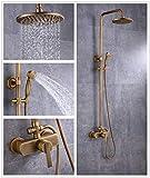 Sccot - Grifo de ducha, diseño vintage, latón de...