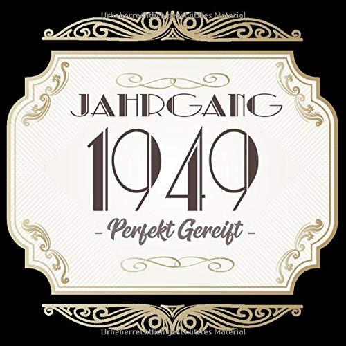 Jahrgang 1949 Perfekt Gereift Geschenk Zum 70 Geburtstag Geschenk Geburtstagsparty Gästebuch Eintragen Von Wünschen Design Gold Banner German