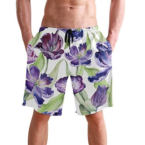 WTZYXS Heren Strand Shorts Pride Lips Zomer Gedrukt Zwemmen Ademende Sneldrogende Shorts Zwembroek Boardshorts