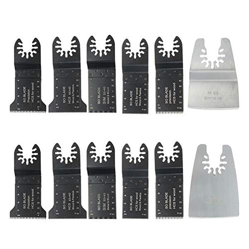 Best Bargain no-branded Oscillating Multitool Accessories Kit 12pcs Straight Scale Saw Blade for Fei...