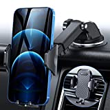 DesertWest Cell Phone Holder Upgrade Dashboard Car Mount Strongest Ultimate Protection Windshield Air Vent Universal Fit with iPhone 12 SE 11 Max Pro X XS Max XR 8 7, Samsung Galaxy S20 All Phones