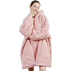 [Winter Essentials]- Are you still afraid to go out because of the cold? With this blanket sweatshirt, you can say goodbye to the cold. Because our sweatshirt blanket is made with super soft microfiber fleece on the front and Sherpa lining on the oth...