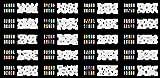 ABEST verkauf Wiederverwendbarer Airbrush DESIGNS der Nail-Art Schablone 320 - 20 Blätter Kit Vorlagensatz 7 -