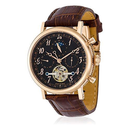 Jost Burgi - Reloj automático de pulsera de piel para hombre