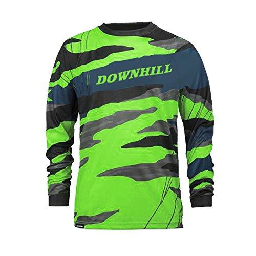 Uglyfrog Designs Bunt Erwachsener Motocross Jersey Thermo Fleece Winter Cross Offroad Enduro Downhill Shirt Atmungsaktiv Lange Ärmel Rundhalsausschnitt or V-Ausschnitt SJFWF07