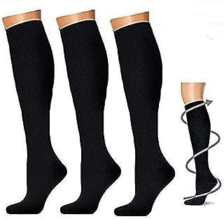 3 pares Calcetines de compresión para hombres y mujeres, calcetines de compresión de 20 - 30 mmhg para Crossfit, maternidad, atletismo, enfermeras, estamina de impulso, circulación y recuperación