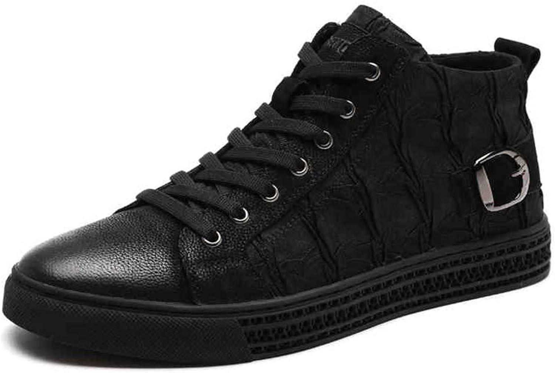 QIDI Martin Boots Men Cloth Keep Warm Flat Lace Booties (Size   US10.5 EU42 UK8.5)