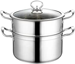 MSWL Household Stainless Steel Steamer Thick And Durable Convenient Safe And Sanitary Soup Pot Suitable For Induction Cook...