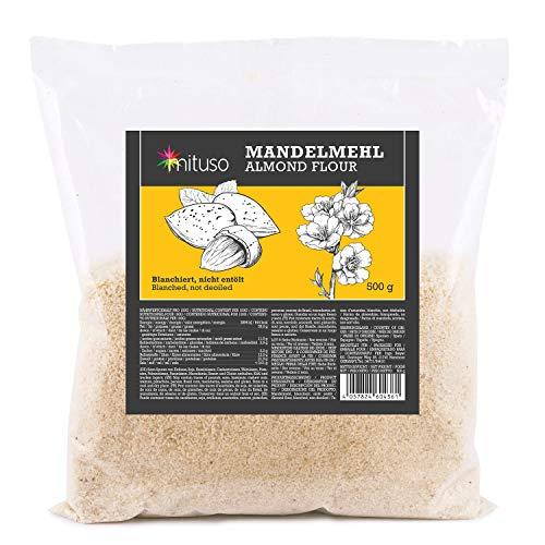 harina de almendra mituso, natural, blanqueada, 1 paquete (1 x 500g)