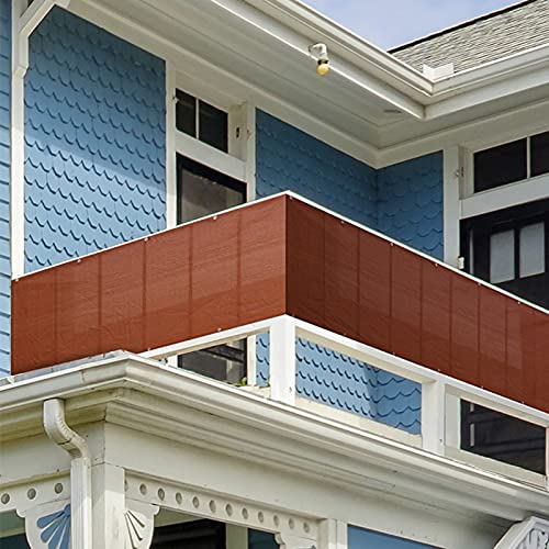 GGMWDSN Pantalla Balcón Privacidad, Jardín Protección de Privacidad con Bridas de Nailon y Cuerdas, Resistente al Viento y al Agua, Protección UV, Apto para Jardín Terrazas Balcones,0.9x25m