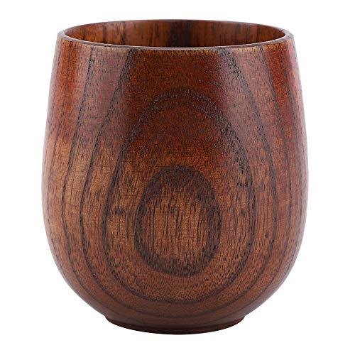 Natuurlijke houten biermok retro grote capaciteit thee melk sap klassieke houten vat vorm mok