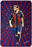 Manta polar de Messi 100 x 140 cm, azul y rojo