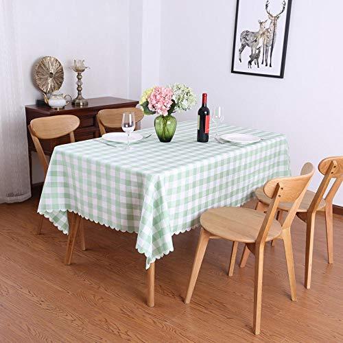 Yinaa Mantel de Mesa Manteles Estilo Mediterráneo Luz Suave y Transpirable Manteles Rectangulares de Mesa de Café Manteles Verde 120×180cm