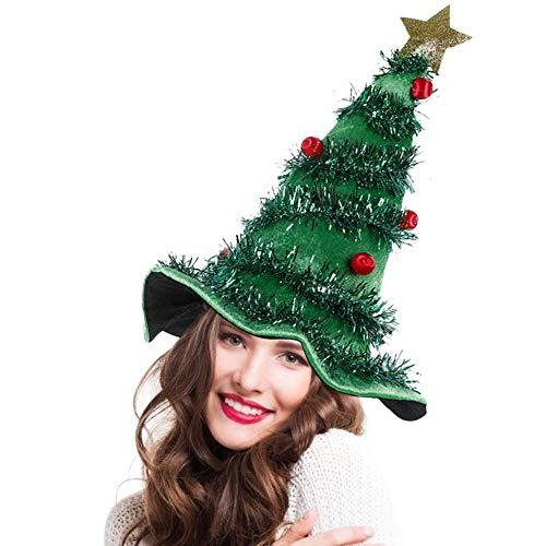 Sysow Weihnachtsbaum Hut, Lustige Weihnachtsmütze, Neuheit Tannenbaum Weihnachtshut, Weihnachtsmann Mütze, Weihnachtsfeier Kostüme Requisiten für Erwachsene Kinder