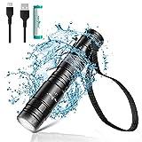 PEETPEN LED Taschenlampe USB Aufladbar Extrem Hell, Taktische Taschenlampen Klein Wasserdicht IPX6, 5 Modi mit Memory Funktion Flashlight für Camping, Outdoor, Wandern