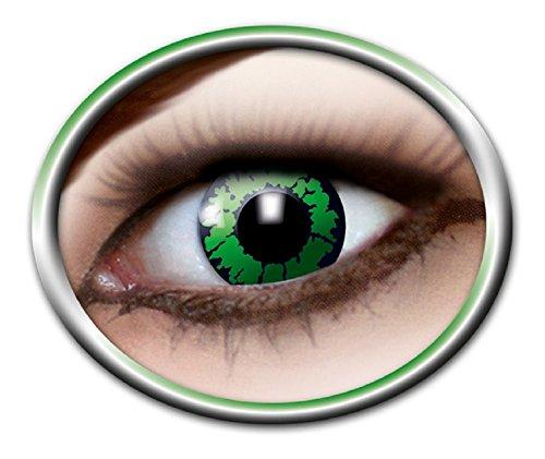 Zoelibat Eyecatcher Motivlinsen - Reptil m11 - farbige 3-Monats-Kontaktlinsen - Grüne Linsen zu Tier Drache Krokodil Cosplay Kostüm