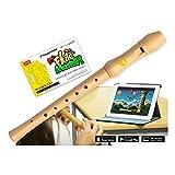 Voggenreiter 1143 VoggenreiterBlockflöte aus Bergahorn für Kinder ab 6 Jahre inkl.Flute Master(Lernsoftware App)-deutsche...
