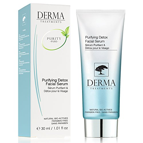 Derma Treatments Purifying Detox Facial Serum with Aloe Vera which aims to stimulate the skin's healing process 30ml