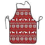 Norwich Terrier Silhouettes - Delantal de Cocina con patrón de suéter, Delantal de Cocina, Cuello Ajustable y conexión Extra Larga a la Cintura para cocinar, Barbacoa, Camarero, etc.
