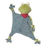 SIGIKID 41352 Schnuffeltuch Frosch Green Mädchen und Jungen Babyspielzeug empfohlen ab Geburt grün/blau