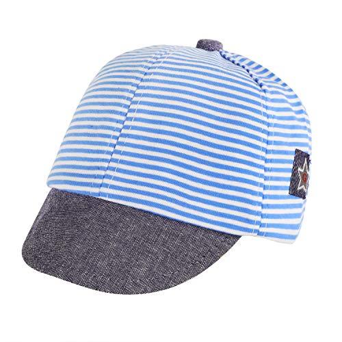 Gorra de béisbol para niños, ajustable, gorra de bebé, gorra con visera, gorra deslizante, de secado rápido, gorra de béisbol, gorra deportiva, gorra de verano para niños y niñas azul 42-46