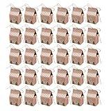 Upkoch - Scatole per caramelle a forma di casetta con corda di canapa per feste di compleanno, baby shower, confezione da 30 pezzi