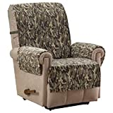 Unknown1 Camo Plush Olive Recliner Furniture Cover Brown Green Tan Traditional Transitional Polyester Pet Friendly