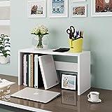 CKH Scaffale piccolo sul tavolo Cassaforte in legno semplice for scrivania da studente Scaffale di stoccaggio di grande capacità (Color : White)